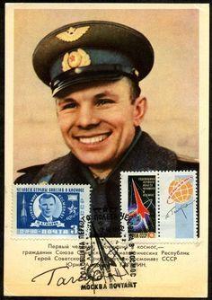 Maxicard with Yuri Gagarin 1962