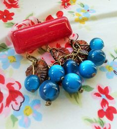 30s 40s Style Brooch,Bakelite Inspired Bar Pin,Celluloid Style Berry Brooch,Novelty Jewelry,Mid Century Style,Lucite Inspired Accessories. by RosieMays on Etsy