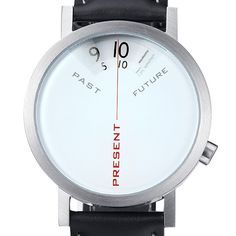 The Past, Present + Future Watch reminds you that there's no time like the present. A style that is coolly minimal and warmly conceptual, Past Present, Future is a meditation on time. As Albert Einstein says, I never think of the future as it come. Future Watch, Past Present Future, Watch Display, Yanko Design, Conceptual Design, Stitching Leather, Digital Watch, Just In Case, Watches For Men