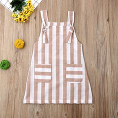 Pudcoco Summer Toddler Baby Girl Clothes Sleeveless Striped Strap Dress Casual P. - My Pins - Pudcoco Summer Toddler Baby Girl Clothes Sleeveless Striped Strap Dress Casual Pockets Summer Sundr - Kids Frocks, Frocks For Girls, Dresses Kids Girl, Kids Outfits, Dress Girl, Baby Girl Clothes Summer, Baby Girl Frocks, Baby Girl Fashion, Fashion Kids
