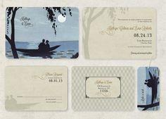 Destination Wedding Lake Wedding Invitations Ocean by GoGoSnap