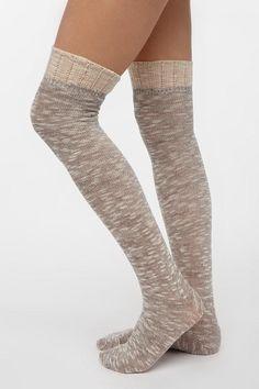 xxbritterx3's save of Spacedye Ruffle-Cuff Over-The-Knee Sock on Wanelo