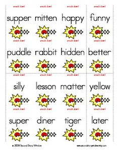 Words Their Way Syllables and Affixes sort 13. Students will sort ...