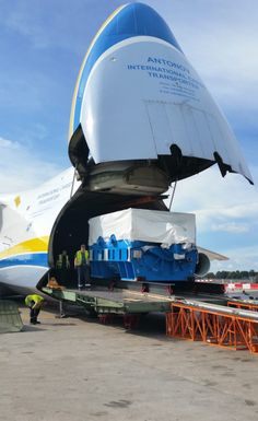 I work for a motor and generator company. We had to expedite the shipping of one of our machines, which normally goes by rail and cargo ship, using the big Antonov-225.