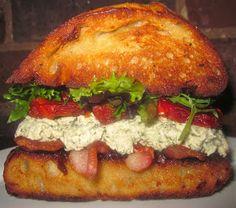 Piece, Love, & Cooking: Pesto Chicken Salad BLT Sandwiches