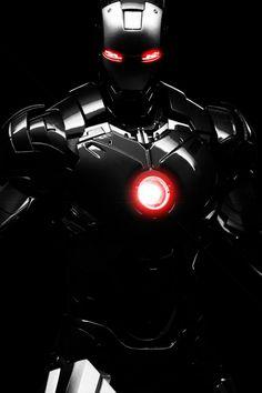 Black Iron Man Mobile Wallpaper - Mobiles Wall