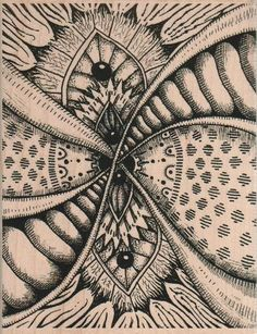 HUGE Rubber stamp  Zentangle unMounted  scrapbooking supplies number 18818. $11.25, via Etsy.