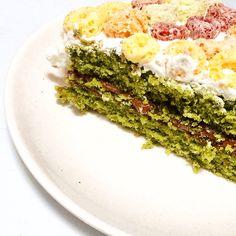 Nutella Matcha pound cake