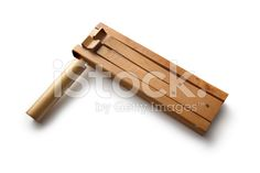 Toys: Wooden Rattle royalty-free stock photo