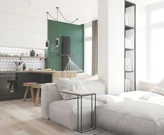 Love this mansard apartment, guarded, slightly minimal but still very lively and dreamy. Don't you think so? project by Julia Trintsukova on behance.net The post Dreamy lively Scandinavian a