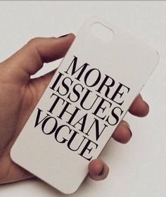 White More Issues Than Vogue iPhone 5 5S Hipster by StudsandSkulls