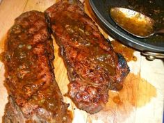 The Briny Lemon: Grilled Steaks with Bourbon-Fig Sauce