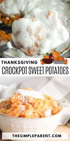 If you're hosting a holiday meal, your slow cooker is the secret to making it easier to prep delicious side dishes! Crock Pot Sweet Potato Casserole is one of the easiest ways to make this classic Thanksgiving and Christmas side dish. Crockpot Sweet Potato Recipes, Crock Pot Sweet Potatoes, Sweet Potato Casserole, Thanksgiving Recipes, Holiday Recipes, Easy Vegetable Side Dishes, Food Meaning, Christmas Side Dishes, Easy Meals