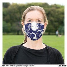 Dark Blue White Cloth Face Mask Dark Blue, Blue And White, Cool Masks, Funky Design, Awesome Stuff, Great Artists, Snug Fit, Face Masks, Sensitive Skin