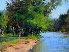 Down River by Susan Ogilvie Pastel ~ 12 x 16