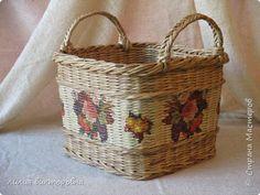 Поделка изделие Плетение Осенние плетенки Трубочки бумажные фото 3