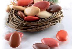 Confetti marrone e rosso al cioccolato   BURATTI CONFETTI