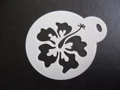 Unique bespoke new laser cut flower 1 cookie / face painting stencil