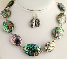 Abalone  Shell Necklace. Listing 170545189 by Ptcreationsjewelry, $55.00