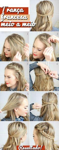 Trança Francesa  #tranca #penteado #cabelo