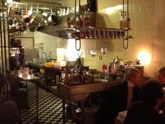 Baltazar's kitchen, Amsterdam....Alain's food is great, cosy ambiance.....