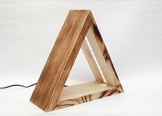 Minimalista design éjjeli lámpa fából - háló ötletek, minimál stílusban