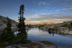 One of the most scenic campsites in the U.S. with view of the Robin Lakes