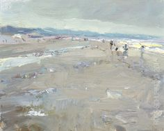 "New Blog Post: http://rosepleinair.com/seascape-hazy-sunny-day/ Seascape Beach ""Hazy Sunny Day"" There was water here and I painted it. But it evaporated and instead I painted the sand again. What you get then is an overworked area, which works really well this time. Bless the Change!  SSP04-2015 Seascape Spring ""Hazy Sunny D... View More at: http://rosepleinair.com #Beach, #Painting, #PleinairPainting, #PleinairPainting, #Roosschuring, #Seascape"