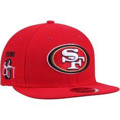 Steve Young San Francisco 49ers New Era Signature Side 9FIFTY Adjustable Snapback Hat - Scarlet - $33.99