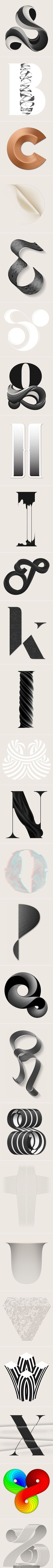 Alphabetica | Type Treatments by Anthony James