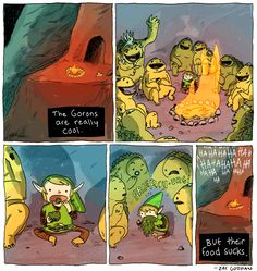the Gorons are really cool. Art by Zac Gorman