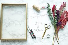 Flower Shadow Box, Diy Shadow Box, Flower Boxes, Wedding Car Deco, Wedding Paper, Diy Wedding, Felt Flowers Patterns, Cute Thank You Cards, New Project Ideas