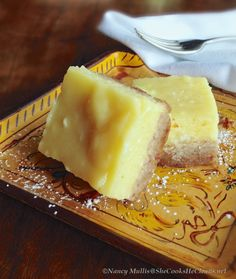 Lemon Bars (gluten and grain-free, dairy-free) #SheCooksHeCleans