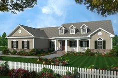 House Plan 348-00110 - Ranch Plan: 2,019 Square Feet, 3 Bedrooms, 2.5 Bathrooms