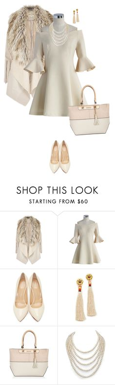 """""""Untitled #7148"""" by lisa-holt ❤ liked on Polyvore featuring Chicwish, Charlotte Olympia, Lizzie Fortunato, River Island and DaVonna"""
