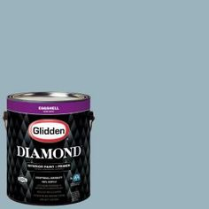 Glidden Diamond 1 gal. #HDGB51U Harper's Blue Eggshell Interior Paint with Primer HDGB51UD-01EN at The Home Depot - Mobile