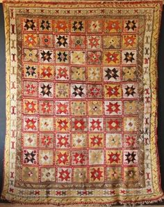 """Stunning modern looking antique rug! Certainly 19th century, possibly Konya (?), lets say Central Anatolian carpet with terrific graphics in a huge size. 7'9"""" x 10'3"""". In full pile but with many ..."""