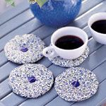 Aromatic lavender coasters - enjoy the soothing fragrance of lavender each time you set down your mug. I need a couple of these for work! :)