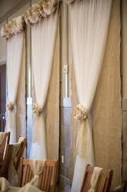 burlap and lace backdrops - Google Search hide an ugle wall...backdrop to head table...could be burlap and tulle..cheap...