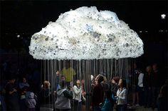 sculpture cloud with bulbs