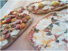 Pesto Cherry Tomato, Margherita & Eggs in Purgatory Pizzas!