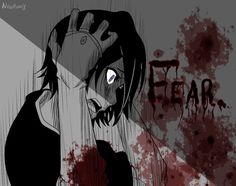 Anime, Anime Girl, Purple Eyes, Monochrome, Blood, Gore, Crying, Short Black Hair.