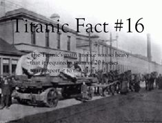 Titanic Fact: The Titanic's main anchor was so heavy that it required a tem of 20 horses to transport it to the ship yard. Rms Titanic, Titanic Film, Titanic Photos, Titanic Sinking, Titanic History, Ancient History, Weird Facts, Fun Facts, Random Facts
