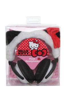Hello Kitty Panda Plush Headphones
