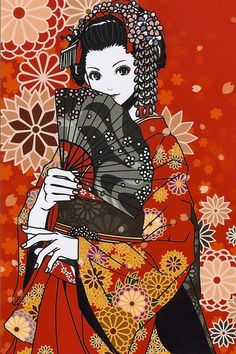 kimono girl . by Eri Kamijo