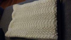 Havskumteppe / Knitted baby blanket