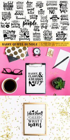 30 Sassy Quotes SVG