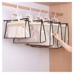 Toiletry Storage, Handbag Storage, Handbag Organization, Closet Organization, Handbag Organizer, Diy Handbag, Purse Organizer Closet, Storage Organizers, Bag Closet
