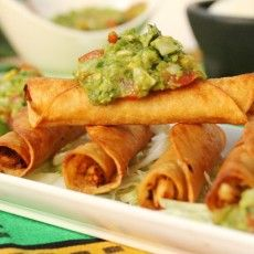 Chicken and Lime Taquitos