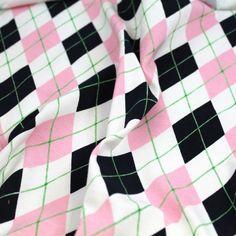 Get Your Prep On Argyle Cotton Jersey - Gorgeous FabricsGorgeous Fabrics